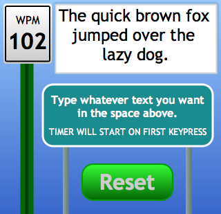 Words per Minute Screenshot